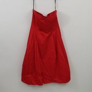 Calvin Klein Red Size 10 Strapless Dress
